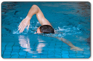 Swimming can cause a rotator cuff tear injury.