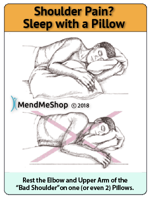 how to use a pillow for shoulder pain sleep